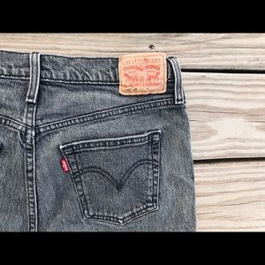 Levi's Black Distressed 501CT Jeans W30